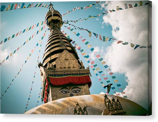 Boudhnath Stupa In Nepal Canvas Print