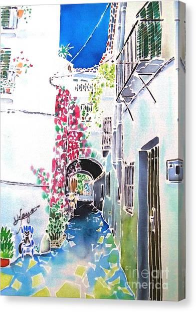 Bougainvillea Path  Canvas Print