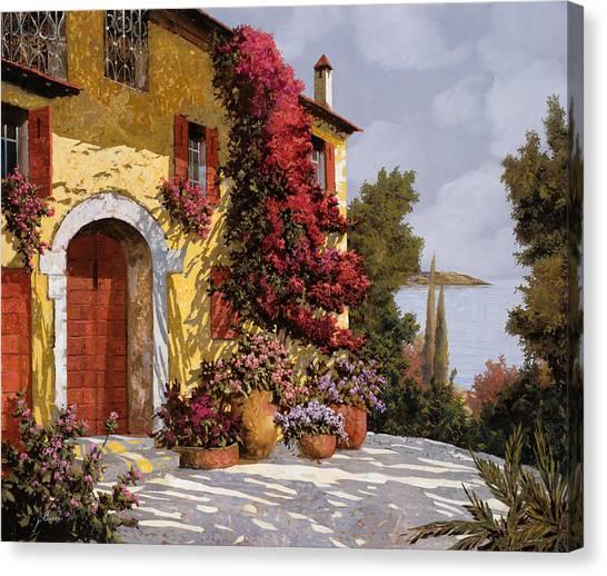 Romantic Flower Canvas Print - Bouganville by Guido Borelli