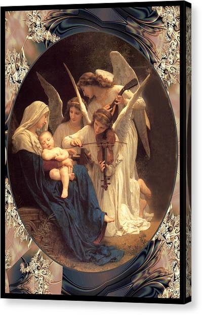 Bouguereau Vintage Angels 2 Canvas Print