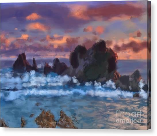 Boulder Coastal Beach Canvas Print