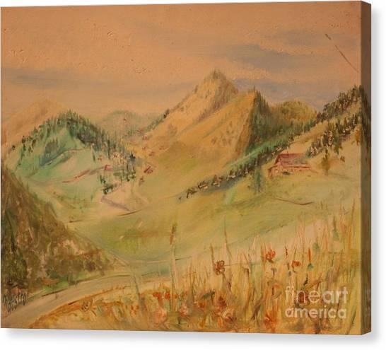 Boulder Colorado Painting Canvas Print
