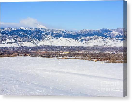 University Of Colorado Canvas Print - Boulder Colorado by Steve Krull