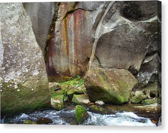 Boulders By The River Canvas Print
