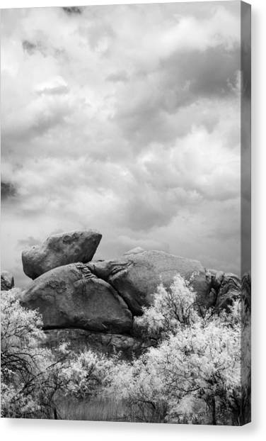 Boulders In Another Light Canvas Print