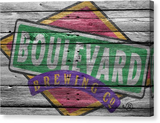 Beer Can Canvas Print - Boulevard Brewing by Joe Hamilton