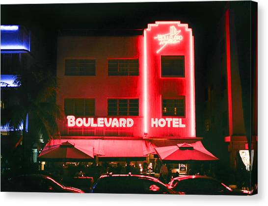 Boulevard Hotel Canvas Print