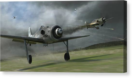 Aircraft Canvas Print - Bounced by Robert Perry