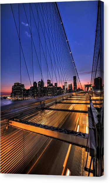New York Canvas Print - Bound For Greatness by Evelina Kremsdorf
