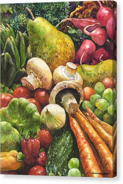 Artichoke Canvas Print - Bountiful by Anne Gifford