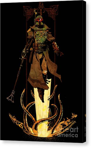 Boba Fett Canvas Print - Bounty Hunter Rising by Brian Kesinger