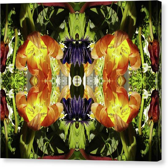 Bouquet Of Tulips Canvas Print by Silvia Otte