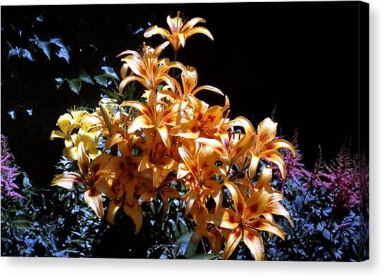 Orange Lilium Bouquet Canvas Print