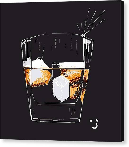Liquids Canvas Print - #bourbon Anyone? #bourbonds #scotch by David Burles