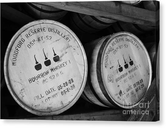 Canvas Print featuring the photograph Bourbon Barrels by Mel Steinhauer