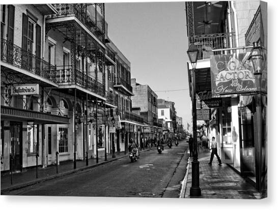Gumbo Canvas Print - Bourbon Street Afternoon by Greg and Chrystal Mimbs
