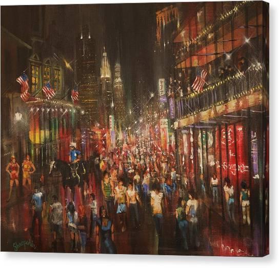 Bourbon Street Canvas Print - Bourbon Street Baby by Tom Shropshire