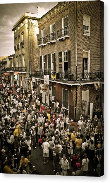 Bourbon Street Party Canvas Print by Ray Devlin