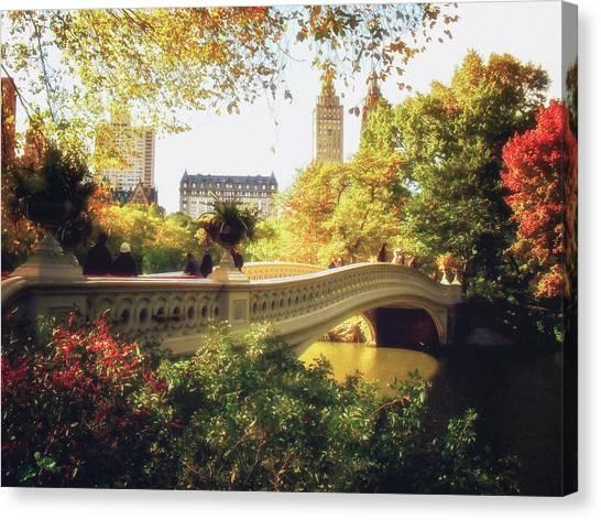Bow Canvas Print - Bow Bridge - Autumn - Central Park by Vivienne Gucwa