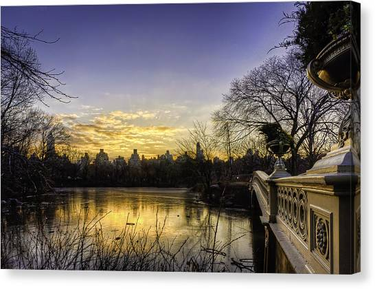 Bow Bridge Sunrise Canvas Print