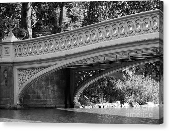 Canvas Print - Bow Bridge Texture Bw by Christiane Schulze Art And Photography