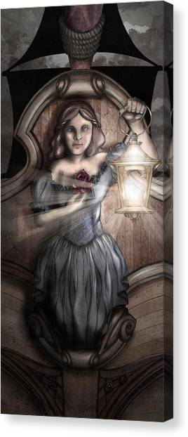 Lacquer Canvas Print - Bow Maiden by April Moen