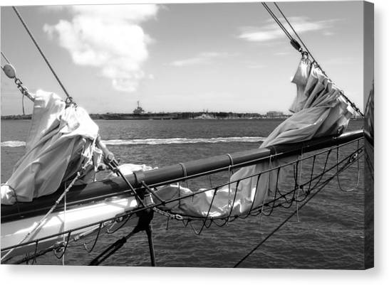 Bow Of A Sailboat Canvas Print