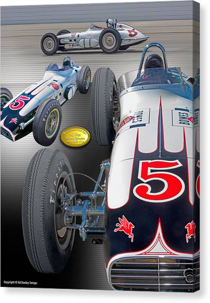 Bowes Seal Fast Foyt 1960 Canvas Print