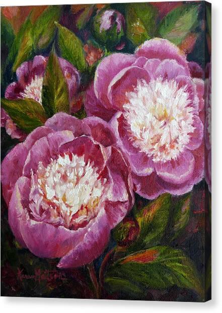 Bowl Of Beauty Peony Canvas Print