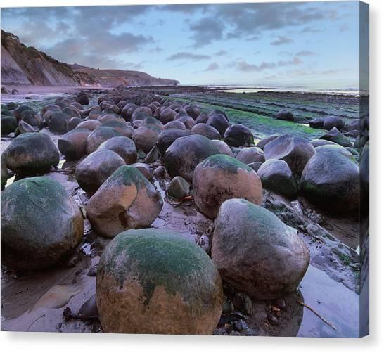 Bowling Ball Canvas Print - Bowling Ball Beach, California, Usa by Tim Fitzharris