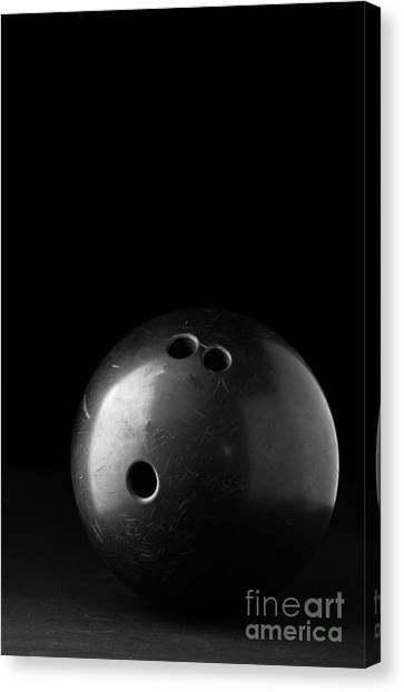 Bowling Canvas Print - Bowling Ball by Edward Fielding