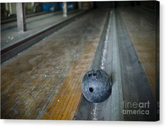 Bowling Shoes Canvas Print - Bowling Ball by Jessica Berlin