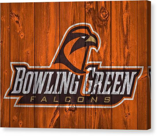 Bowling Green State University Bgsu Canvas Print - Bowling Green Falcons Barn Door by Dan Sproul