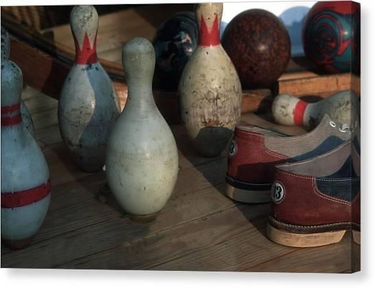 Bowling Shoes Canvas Print - Bowling Pens by Harold E McCray