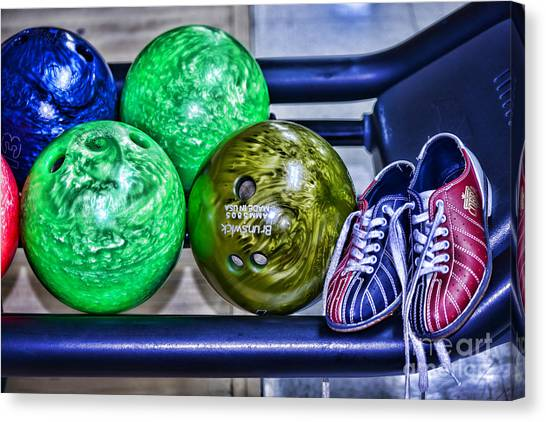 Bowling Shoes Canvas Print - Bowling Shoes by Paul Ward