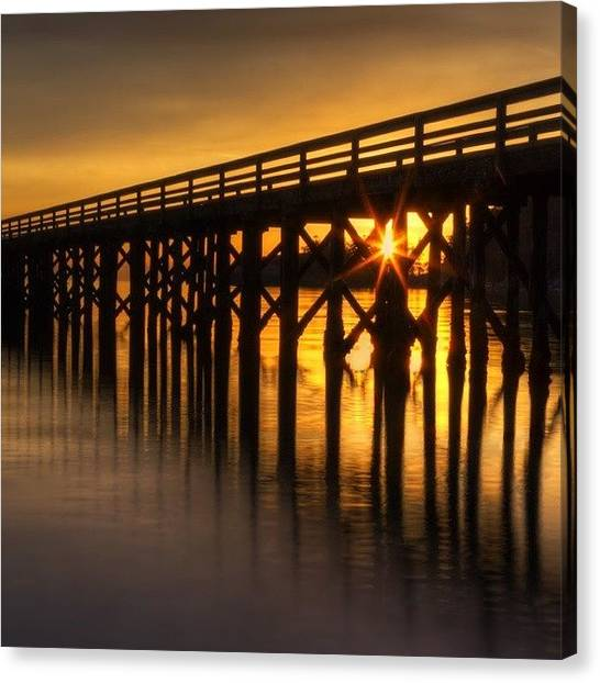 Ocean Sunsets Canvas Print - Bowman Bay Pier  #sunset by Mark Kiver