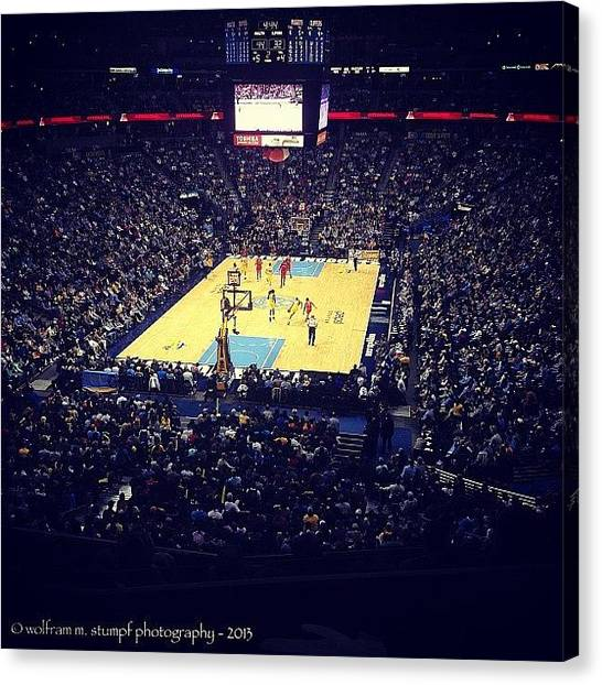 Basketball Teams Canvas Print - Box Seats At The Nuggets Game Tonight! by Wolf Stumpf