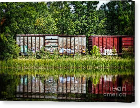 Boxcar Reflection Canvas Print