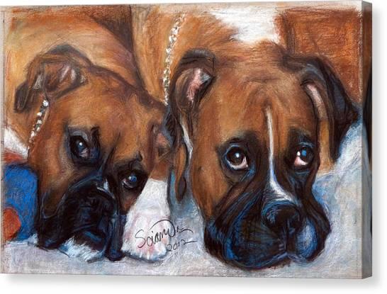 Boxer Buddies Canvas Print