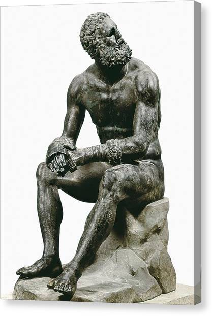 Hellenistic Art Canvas Print - Boxer Seatted. 1st C. Hellenistic Art by Everett
