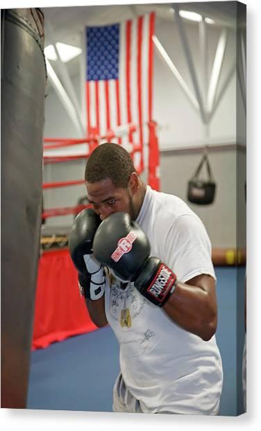 Marquette University Canvas Print - Boxer Training by Jim West