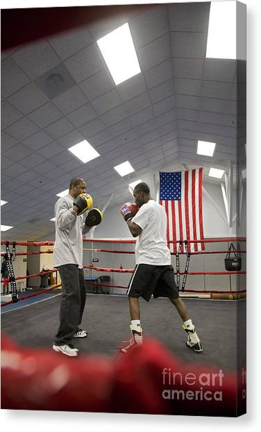 Boxers At Olympic Education Center Canvas Print