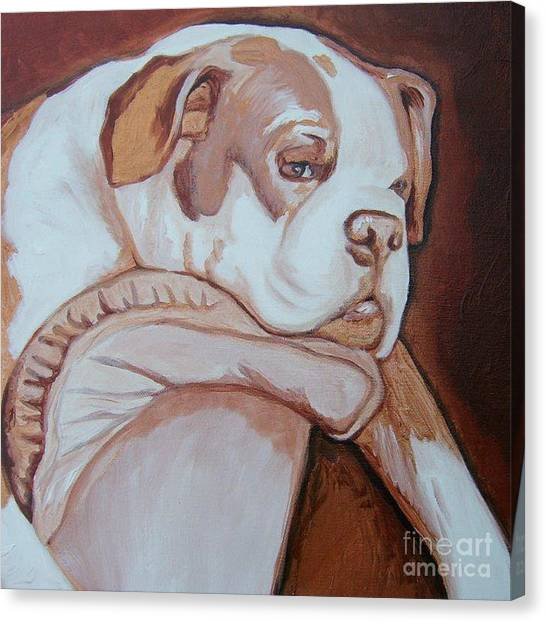 Boxer's Day Off Canvas Print