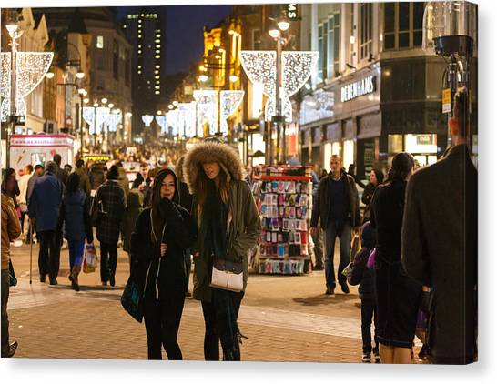 Canvas Print featuring the photograph Boxing Day Sales by Paul Indigo