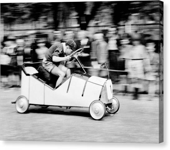 Boy Scouts Canvas Print - Boy Scouts Soap Box Derby, 1955 by British School