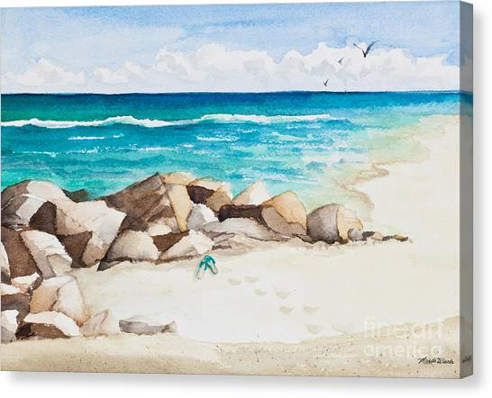 Boynton Beach Inlet Watercolor Canvas Print