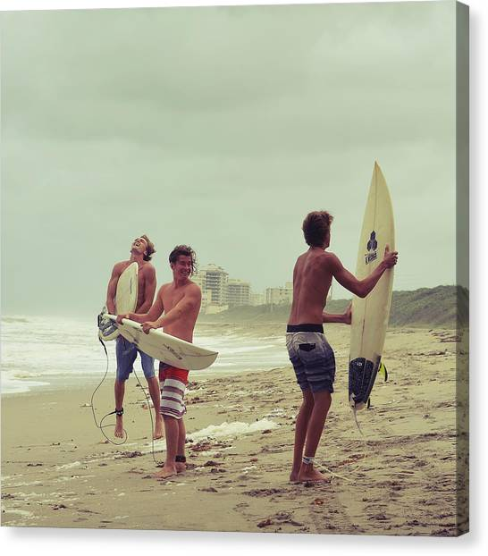 Surfboard Canvas Print - Boys Of Summer by Laura Fasulo