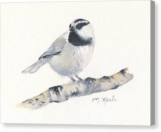 Bozeman Native - Mountain Chickadee Canvas Print