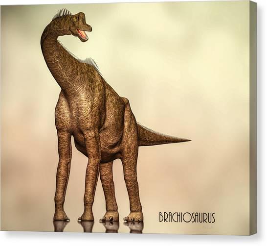 Brachiosaurus Canvas Print - Brachiosaurus Dinosaur by Bob Orsillo