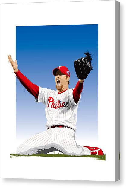 Brad Lidge Champion Canvas Print
